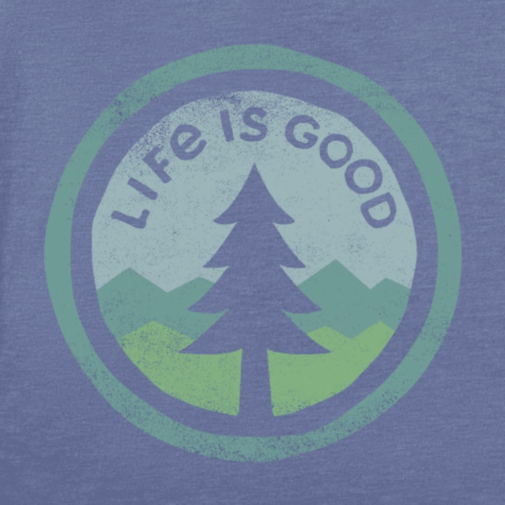 LIFE IS GOOD Women's Tree Coin Long-Sleeve Tee - VINTAGE BLUE