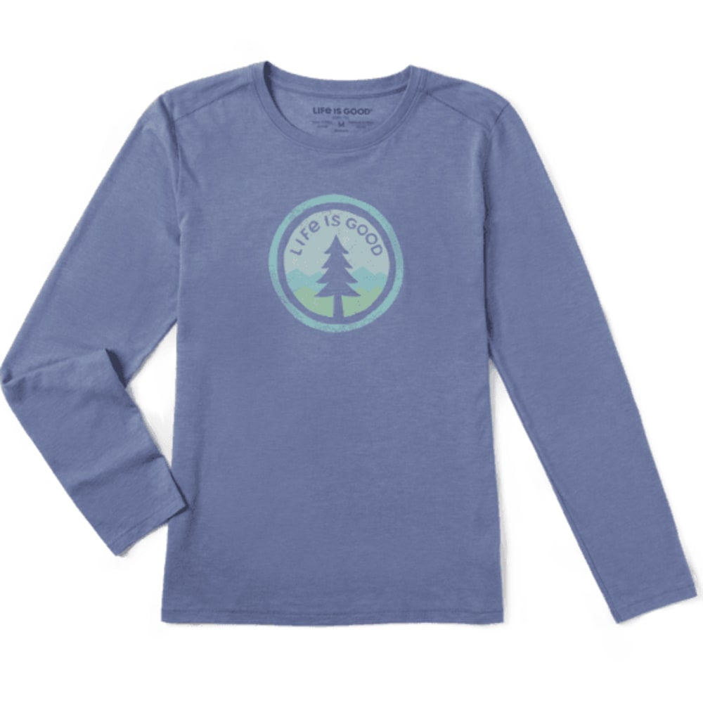 LIFE IS GOOD Women's Tree Coin Long-Sleeve Tee S