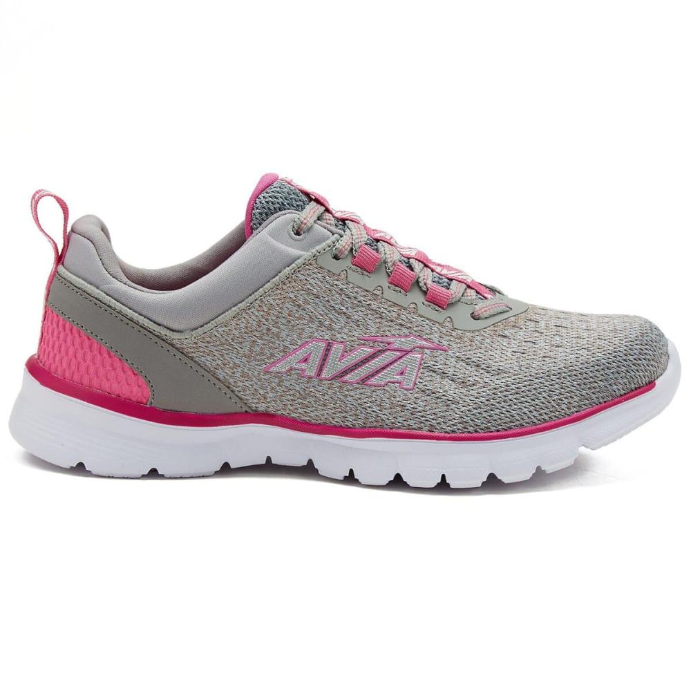 AVIA Women's Avi-Factor Running Shoe - ALLOY/PINK-NPS