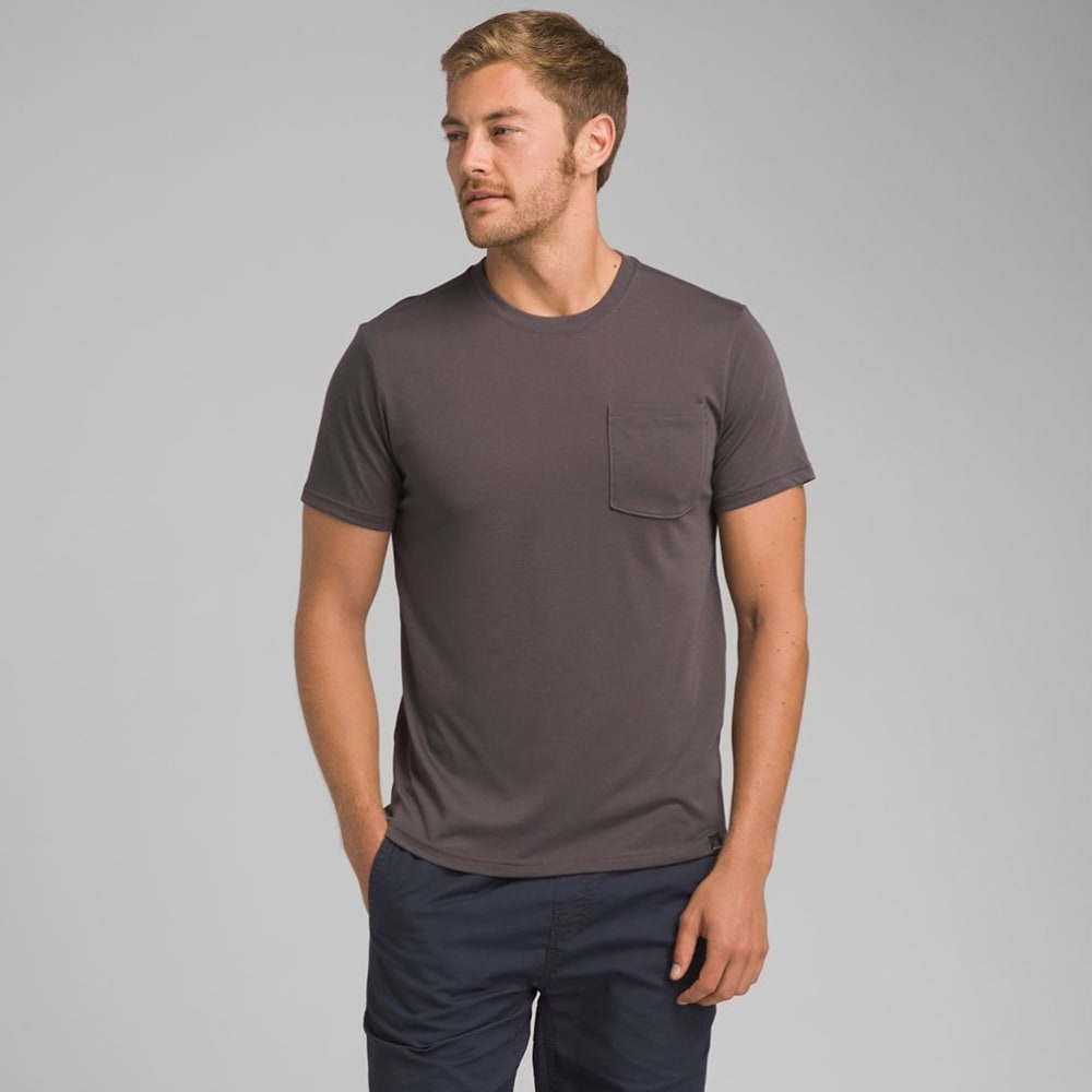 PRANA Men's Neriah Short-Sleeve Crew Tee - CHR-CHARCOAL