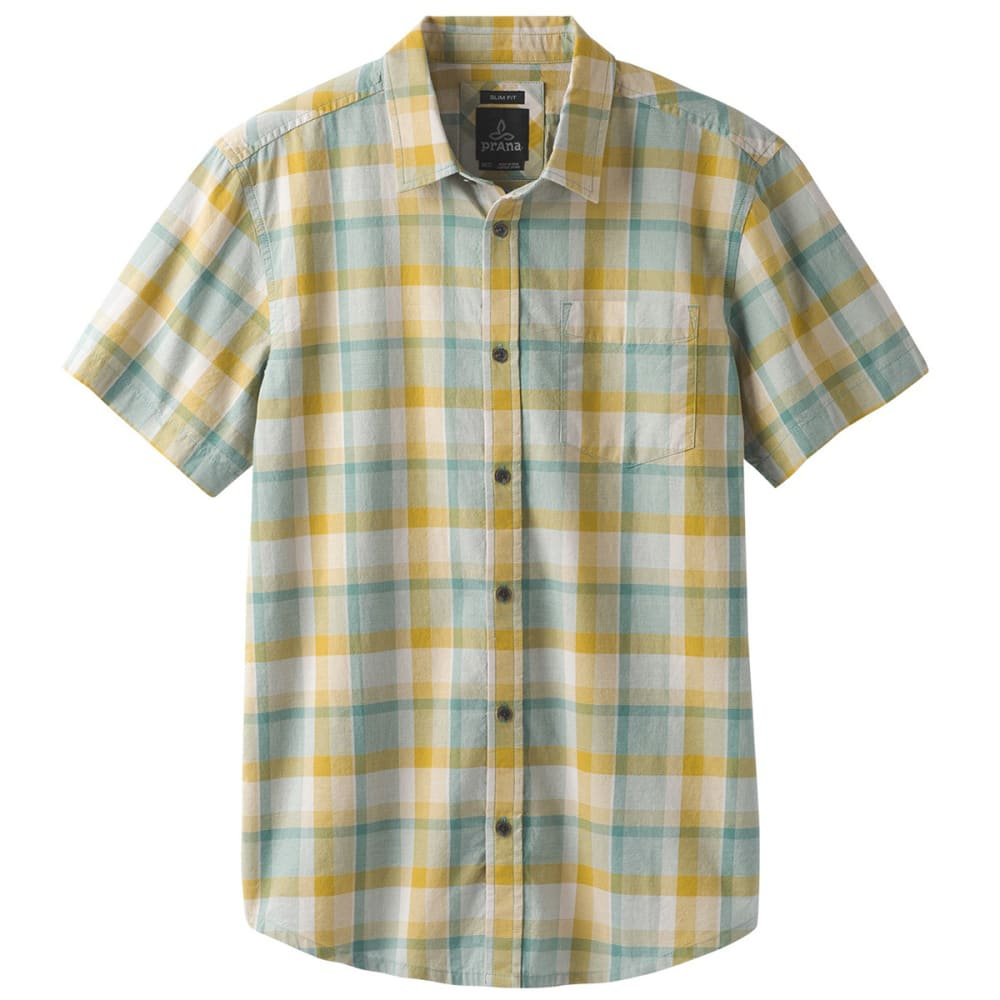 PRANA Men's Bryner Short-Sleeve Oxford - ASHY ASHY