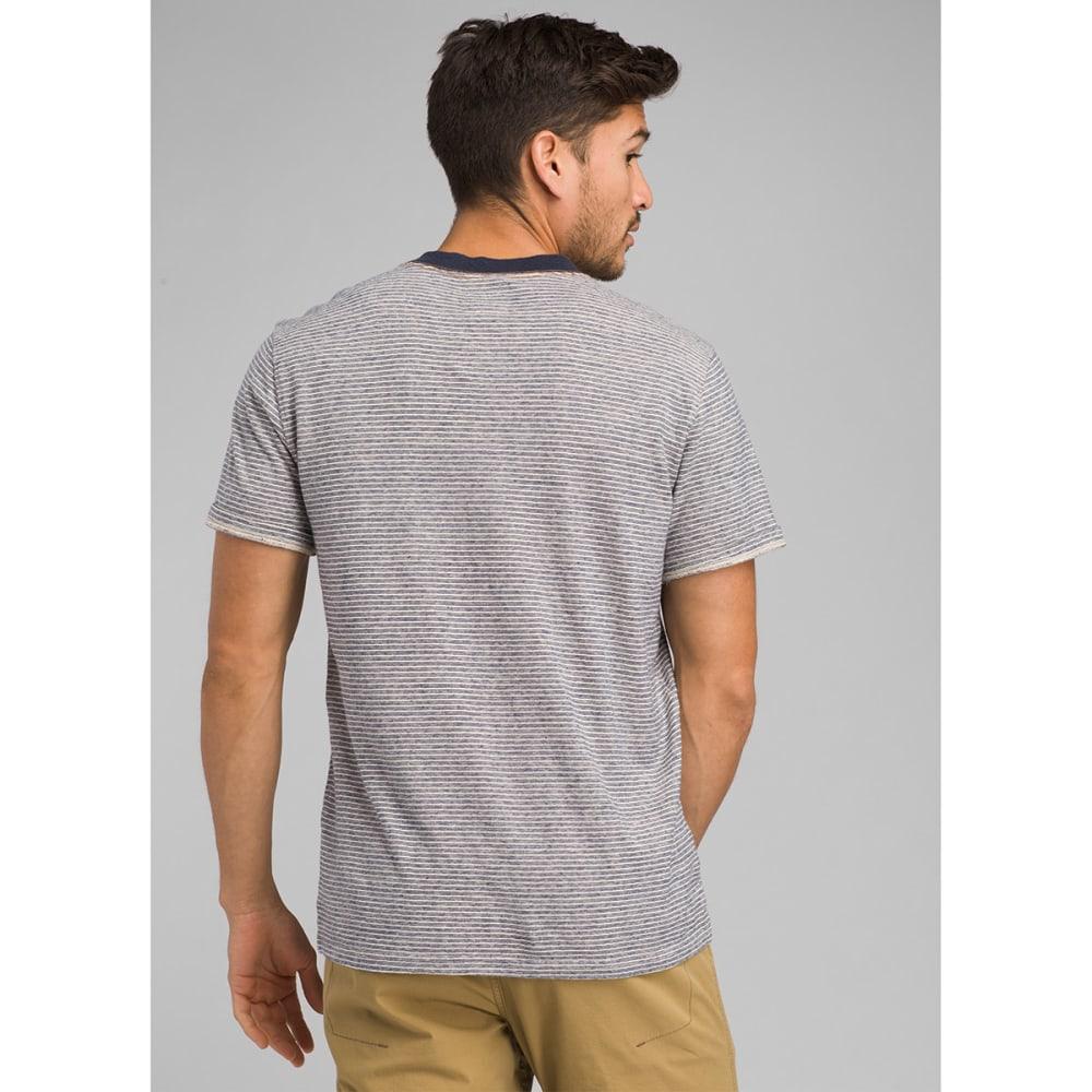 PRANA Men's Denning Shirt-Sleeve Henley Shirt - STN STONE
