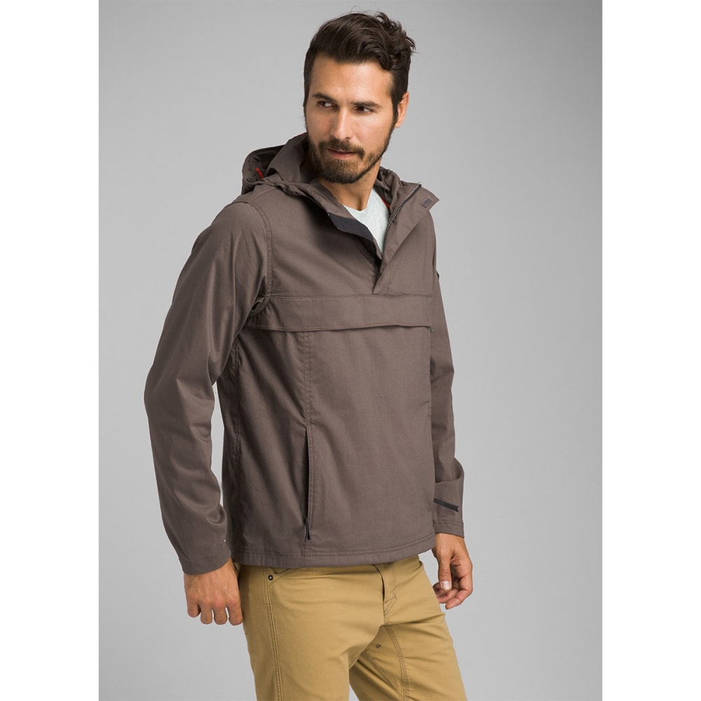 PRANA Men's Helmken Anorak Jacket - GRAN GRANITE