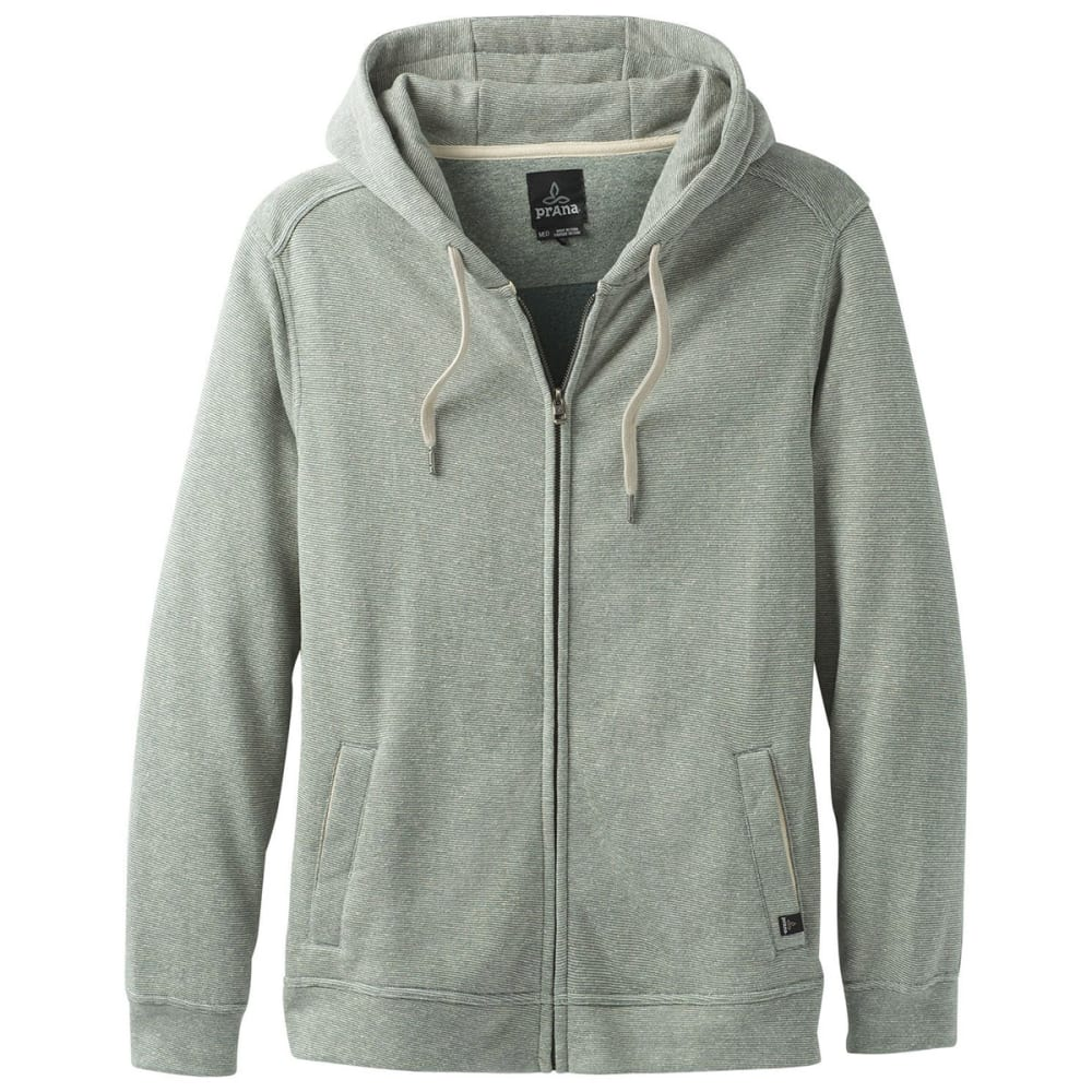 PRANA Men's Outlyer Full-Zip Hoodie - ALST ALOE STRIPE