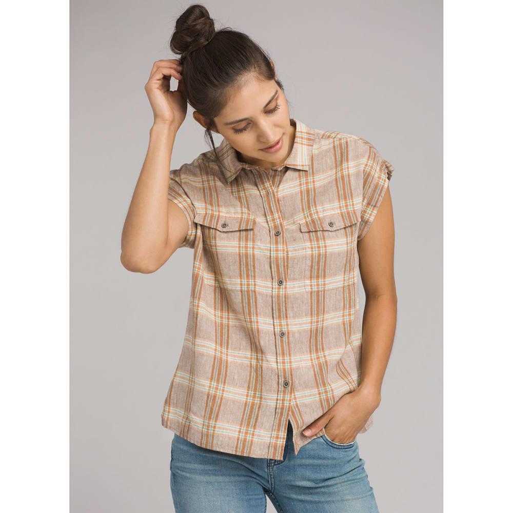 PRANA Women's McCray Short-Sleeve Shirt - DRWO DRIFTWOOD