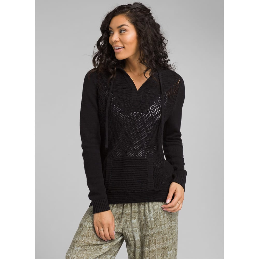 PRANA Women's Sugar Beach Sweater - BLACK