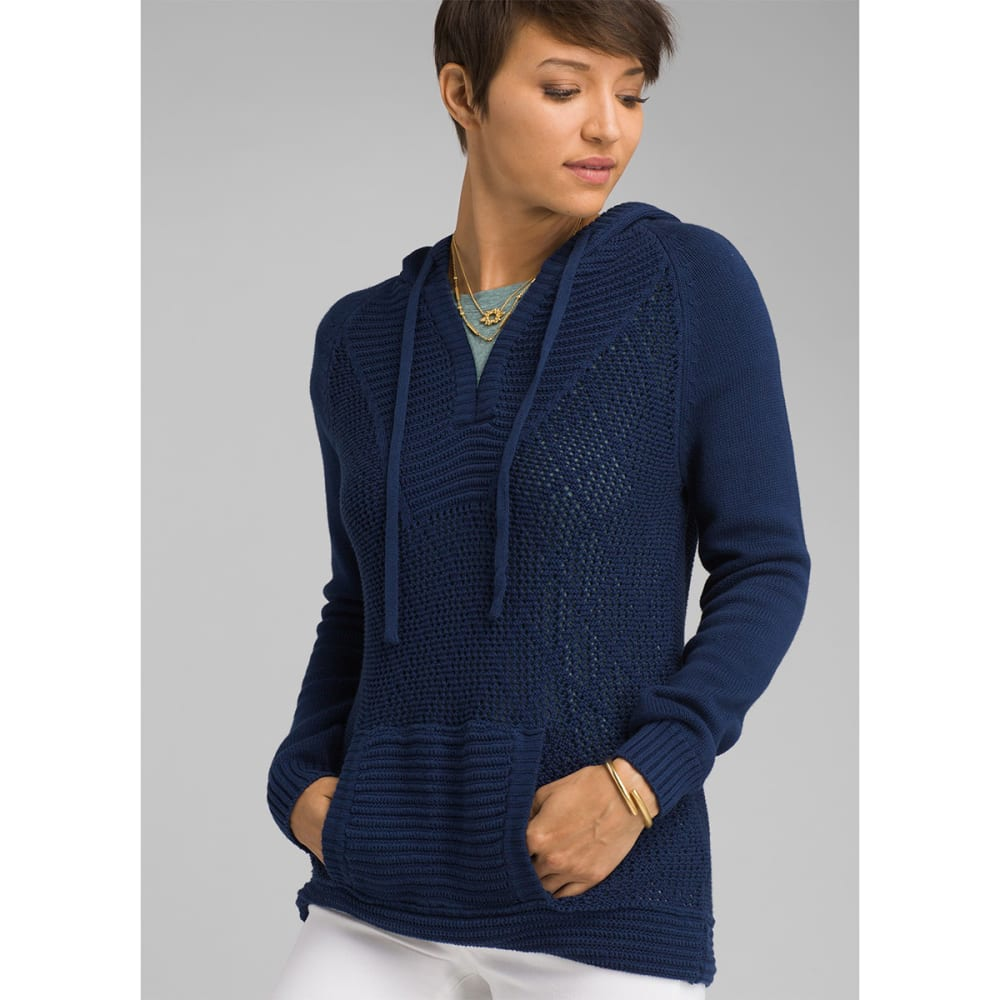 PRANA Women's Sugar Beach Sweater - BLAN BLUE ANCHOR