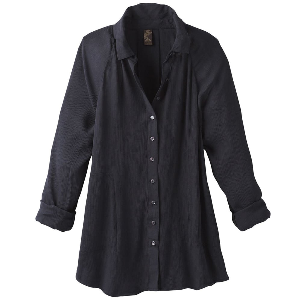 PRANA Women's Hele Mai Shirt - BLACK