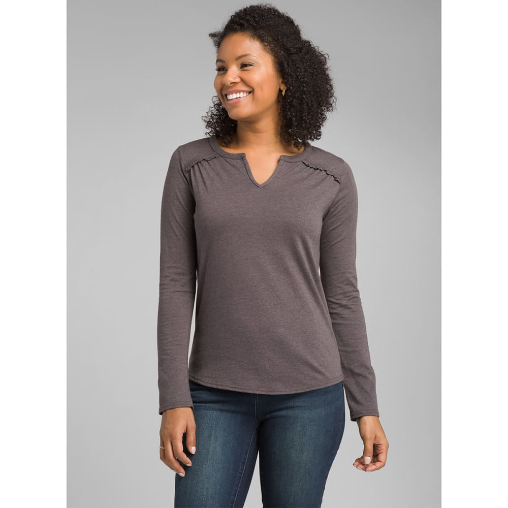 PRANA Women's Nitty Long-Sleeve Top - GRAN GRANITE