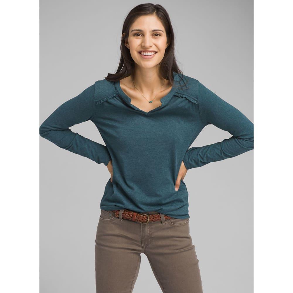 PRANA Women's Nitty Long-Sleeve Top - PEBL PETROL BLUE