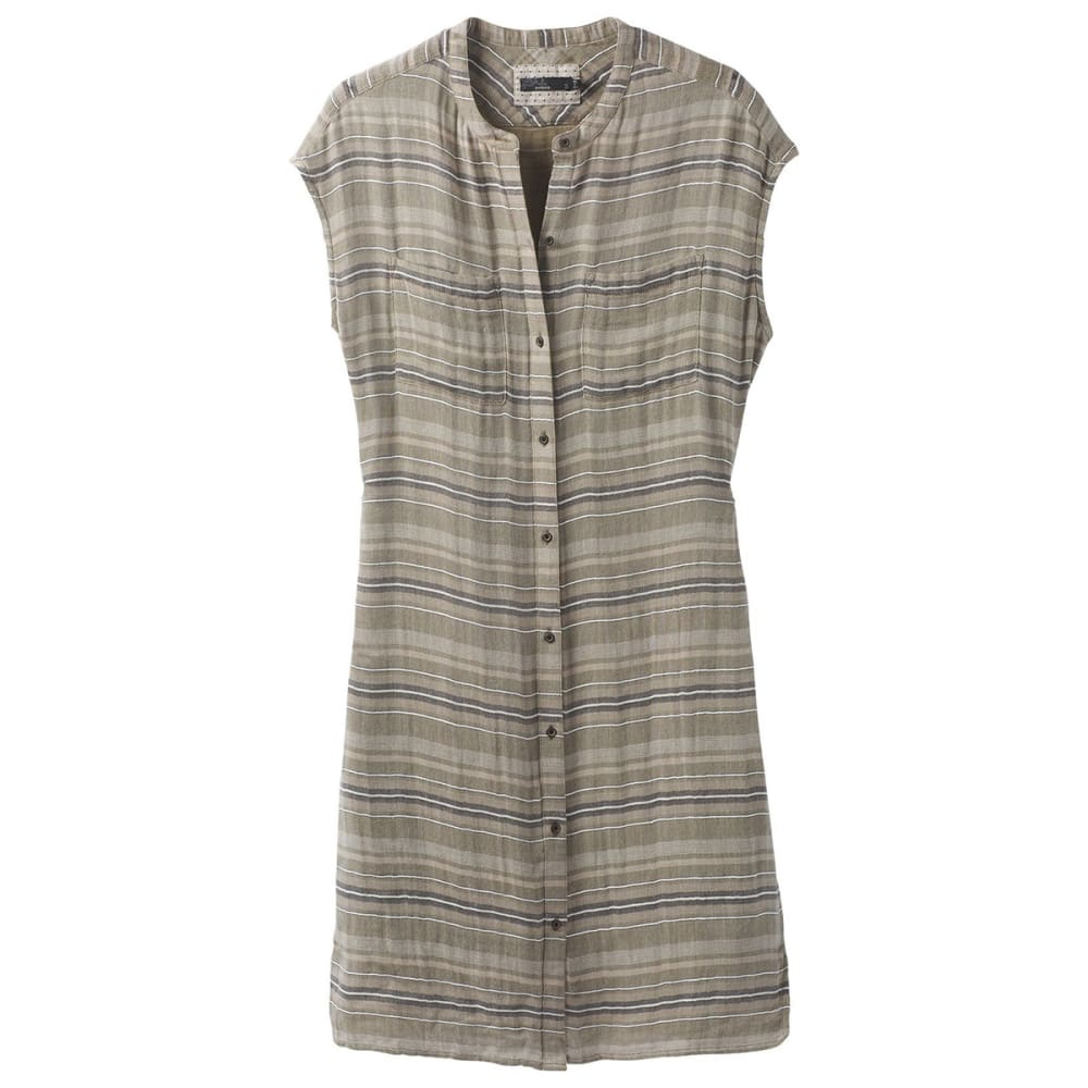 PRANA Women's Buenos Dias Dress - CAGR CARGO GREEN