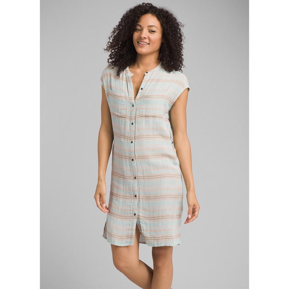 PRANA Women's Buenos Dias Dress - ICAQ ICED AQUA