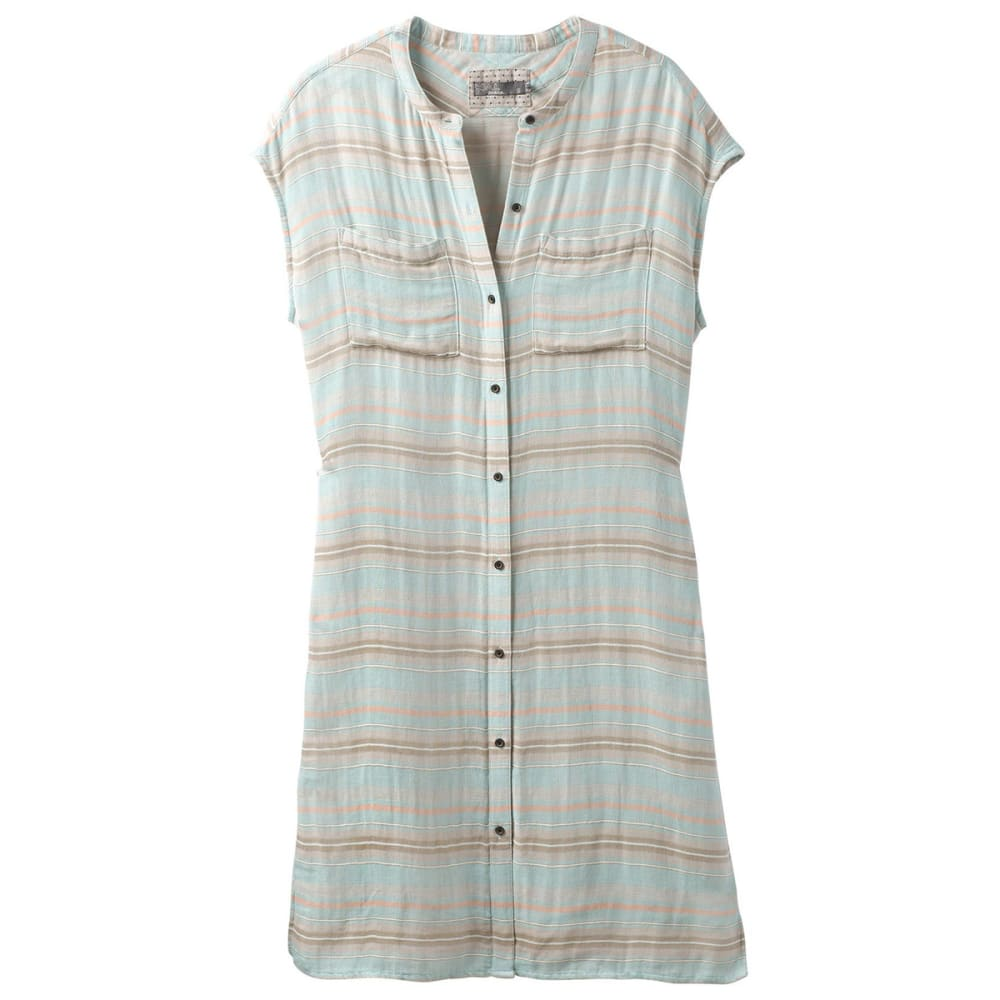 PRANA Women's Buenos Dias Dress - ICAQ ICED AQUA