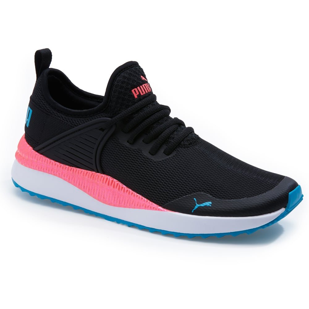 PUMA Women's Pacer Next Cage Athletic Sneakers - PUMA BLACK-01