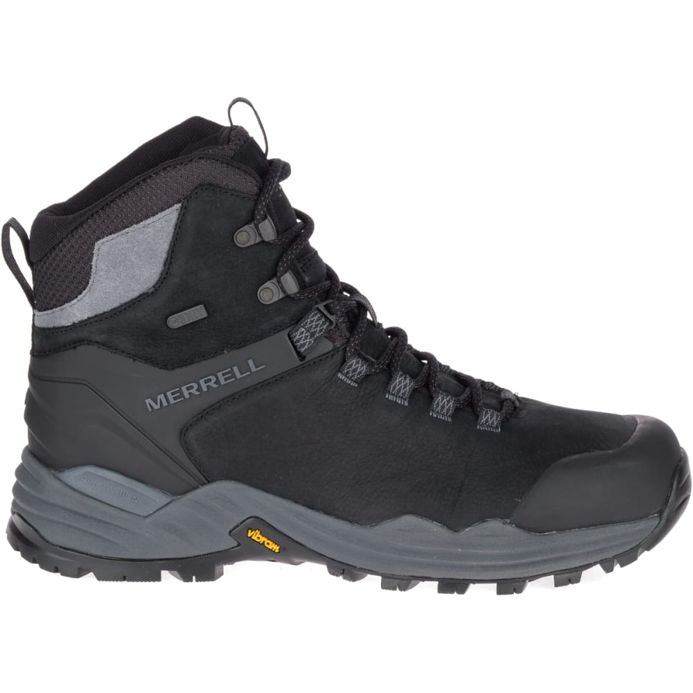 MERRELL Men's Phaserbound 2 Tall Waterproof Hiking Boot - BLACK