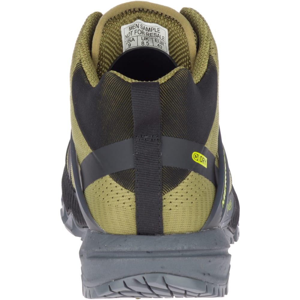 MERRELL Men's MQM Ace Mid Waterproof Hiking Boot - OLIVE/LIME