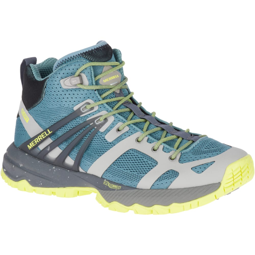 MERRELL Women's MQM Ace Mid Waterproof Hiking Boot - SMOKE/LIME