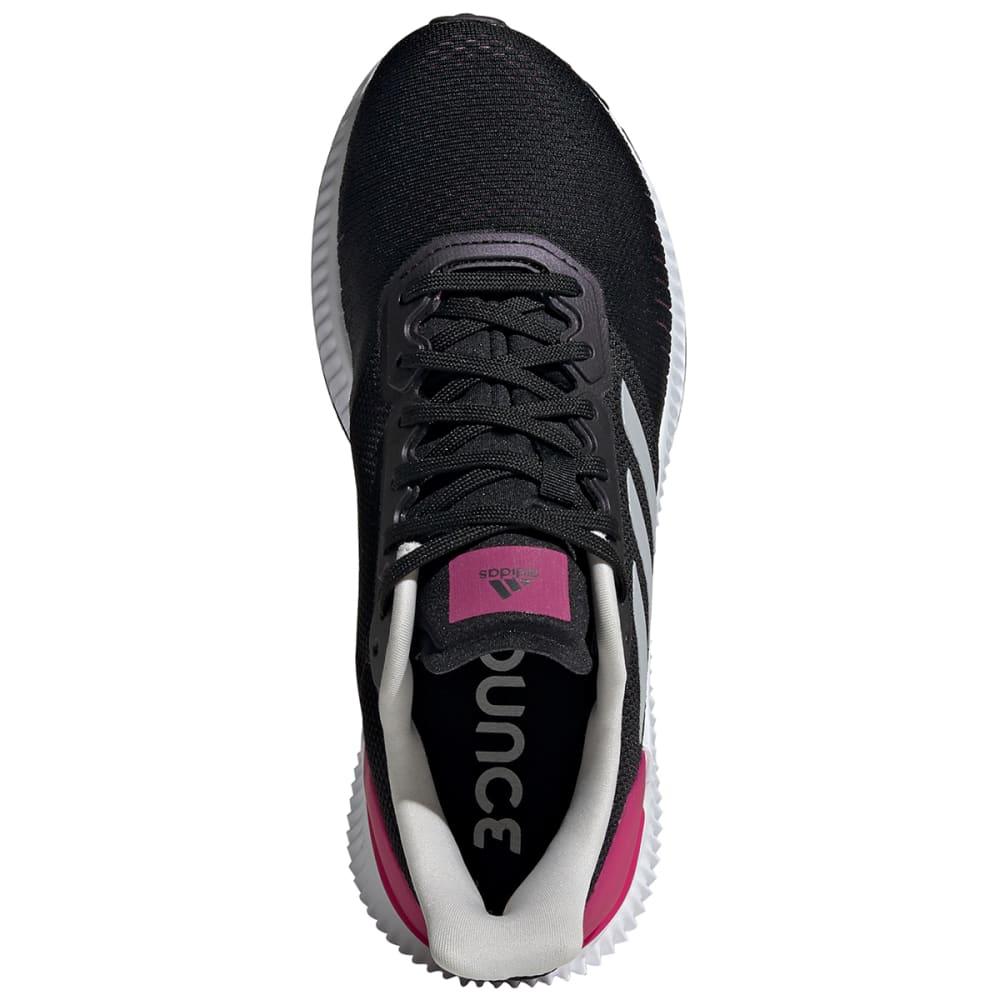 ADIDAS Women's Solar Ride Running Shoes, Wide - BLACK -EF1444