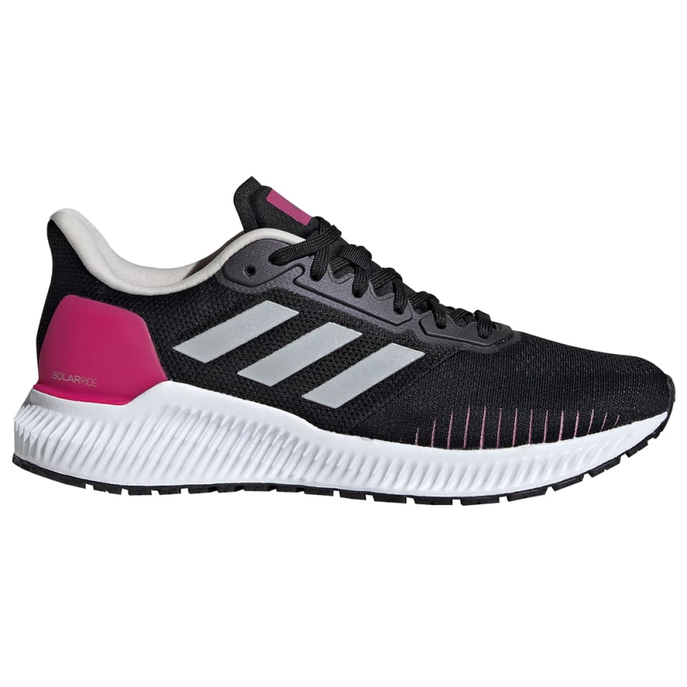 ADIDAS Women's Solar Ride Running Shoes, Wide - BLACK -EF1444