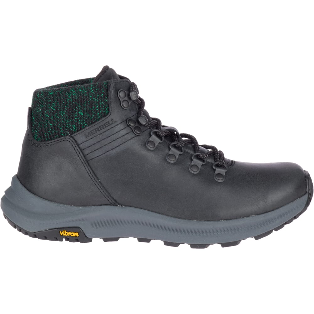 MERRELL Women's Ontario Mid Hiking Boot - BLACK-J50150