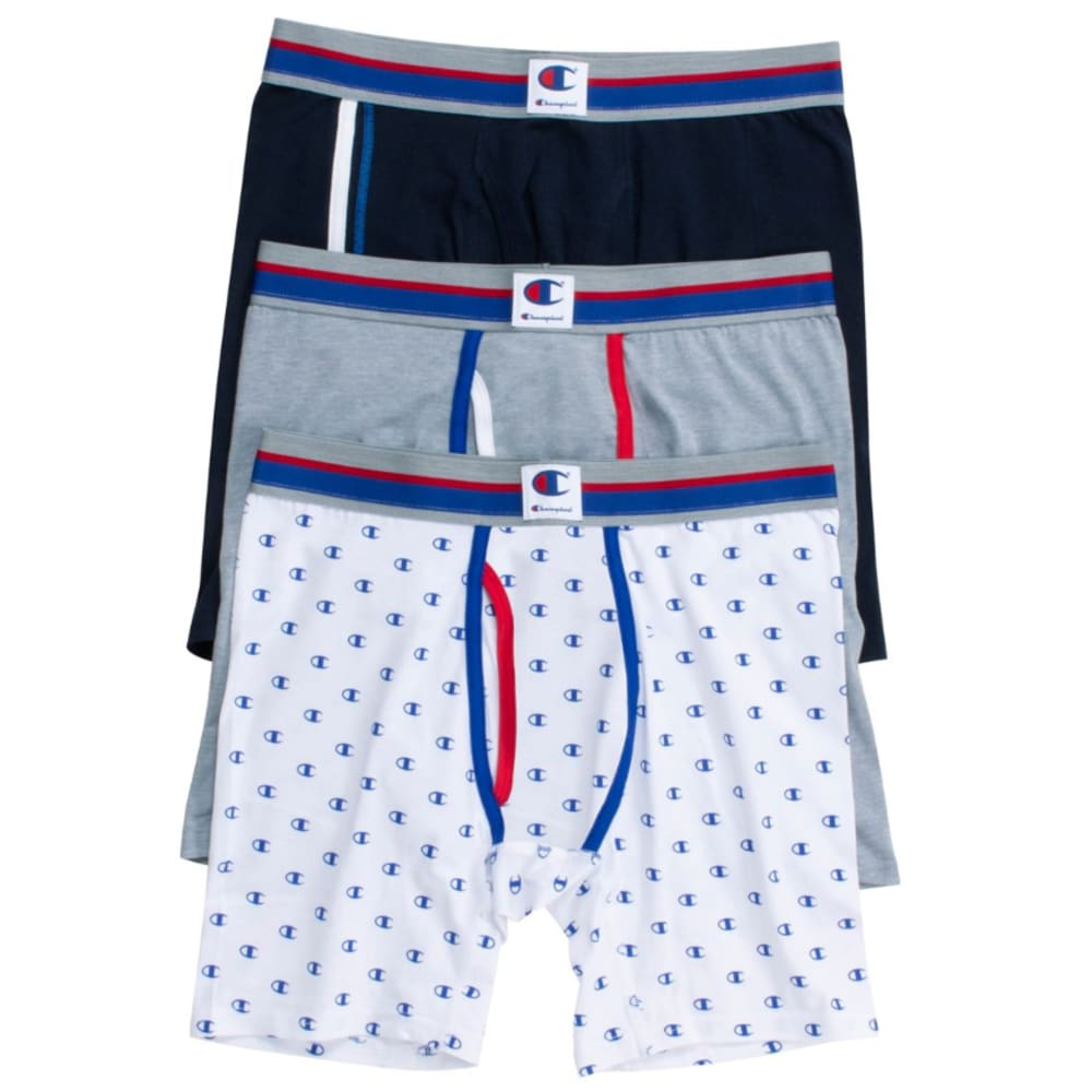 CHAMPION Men's Everyday Comfort Boxer Briefs, 3-Pack S