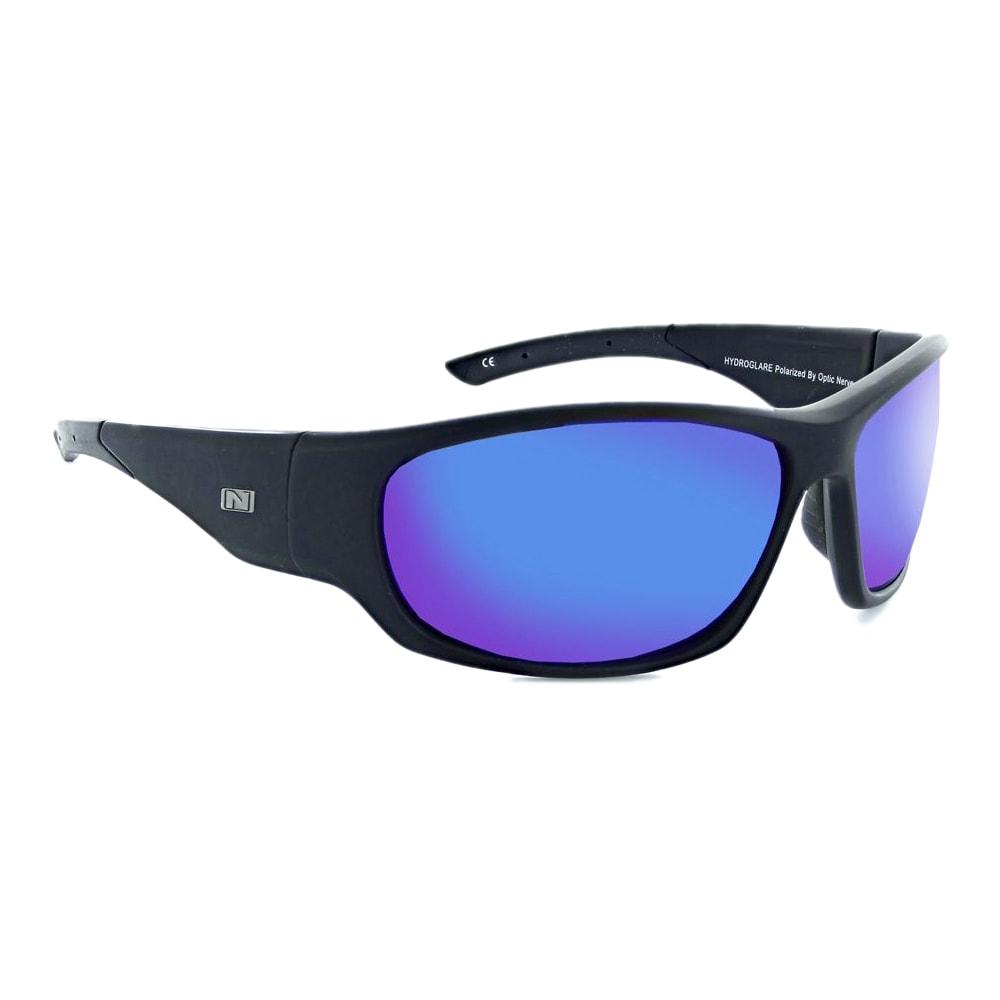 OPTIC NERVE Triton Polarized Sunglasses - BLACK/GREY BLUE MIRR