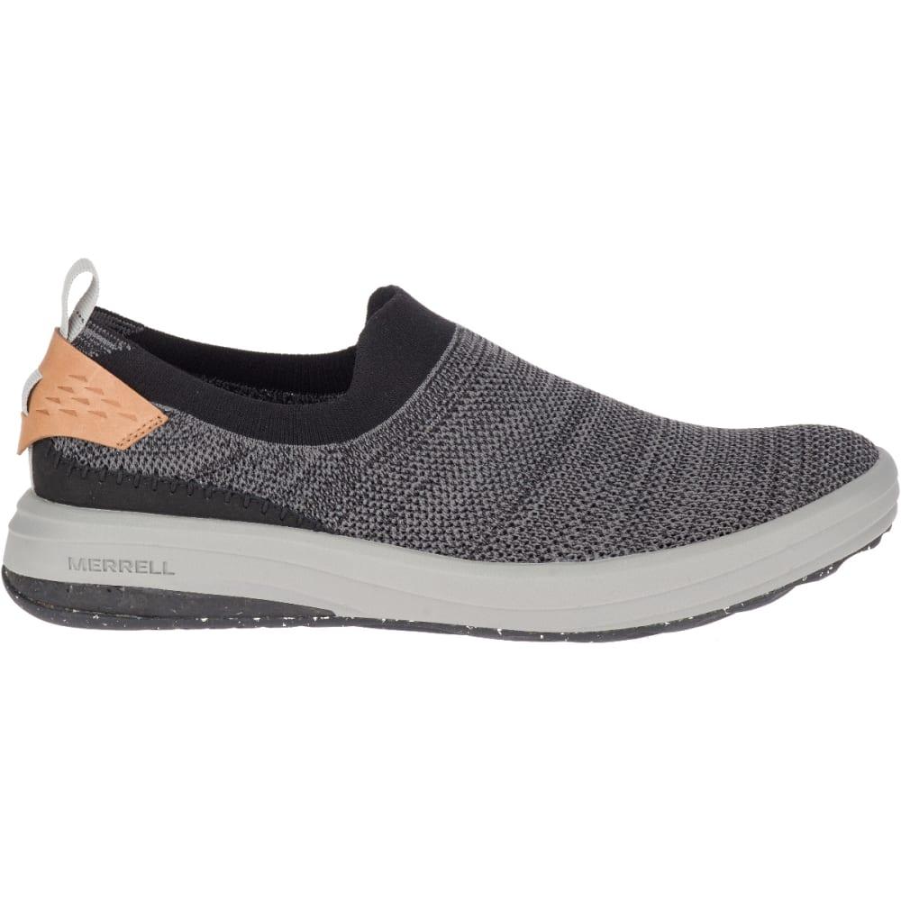 MERRELL Men's Gridway Moc Shoes - BLACK-J97447