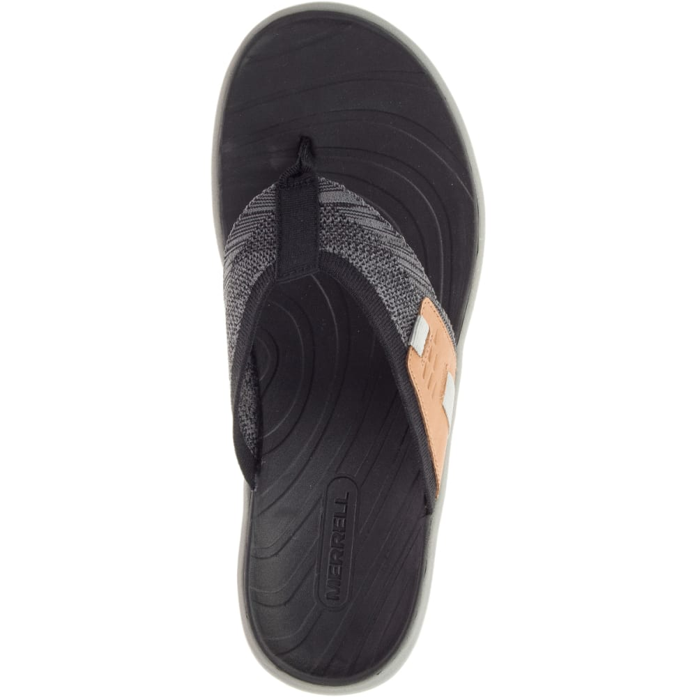 MERRELL Men's Gridway Post Thong Sandals - BLACK-J97435