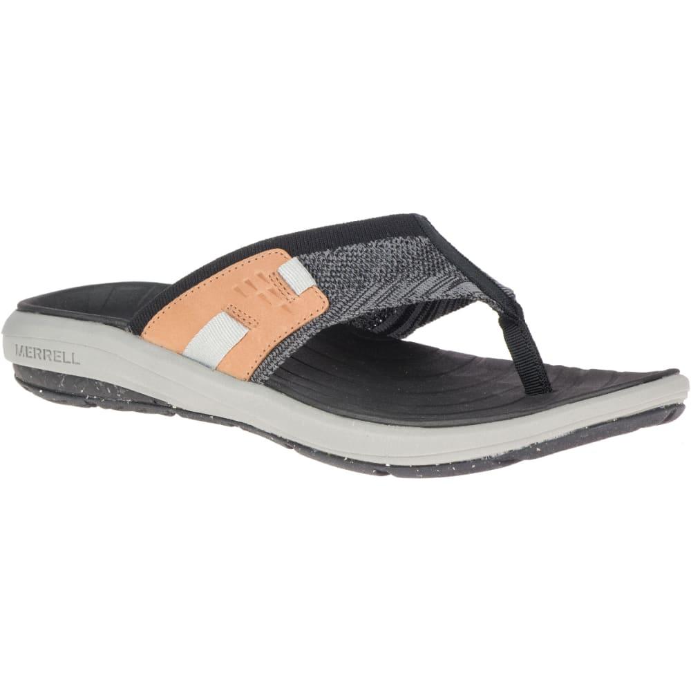MERRELL Men's Gridway Post Thong Sandals - BLACK-J97435