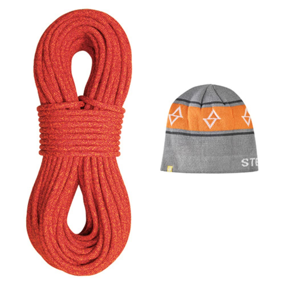 STERLING ROPE CO. Fusion Iron R Dry XP Climbing Rope with Beanie - RED