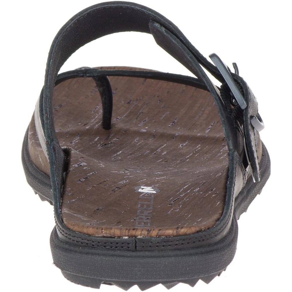 MERRELL Women's Around Town Luxe Buckle Thong Sandals - BLACK J90600