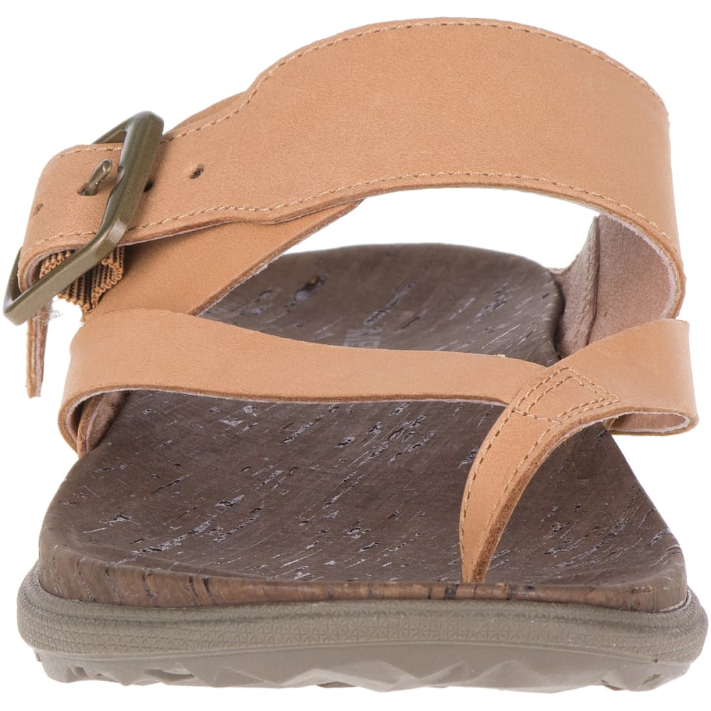 MERRELL Women's Around Town Luxe Buckle Thong Sandals - NATURAL TAN J97400
