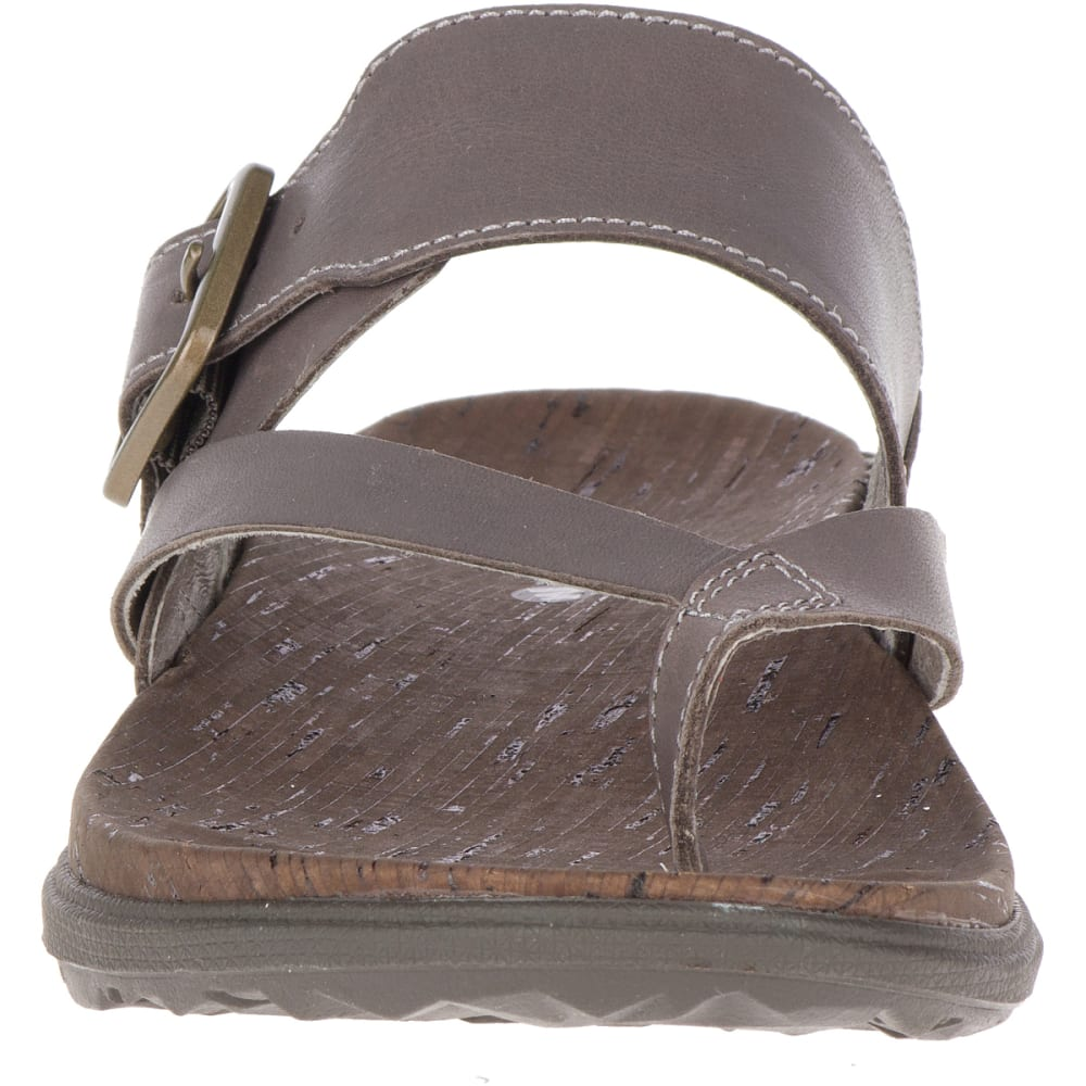 MERRELL Women's Around Town Luxe Buckle Thong Sandals - FALCON J97398
