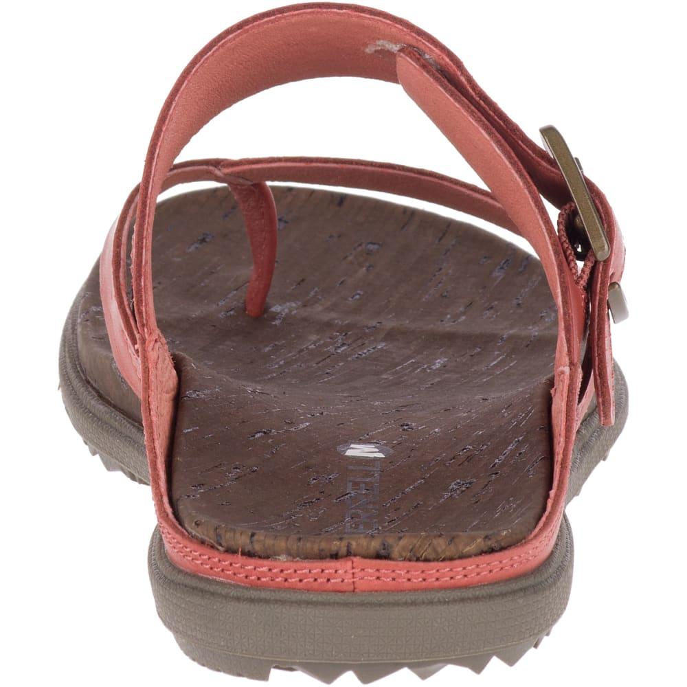 MERRELL Women's Around Town Luxe Buckle Thong Sandals - REDWOOD J97402