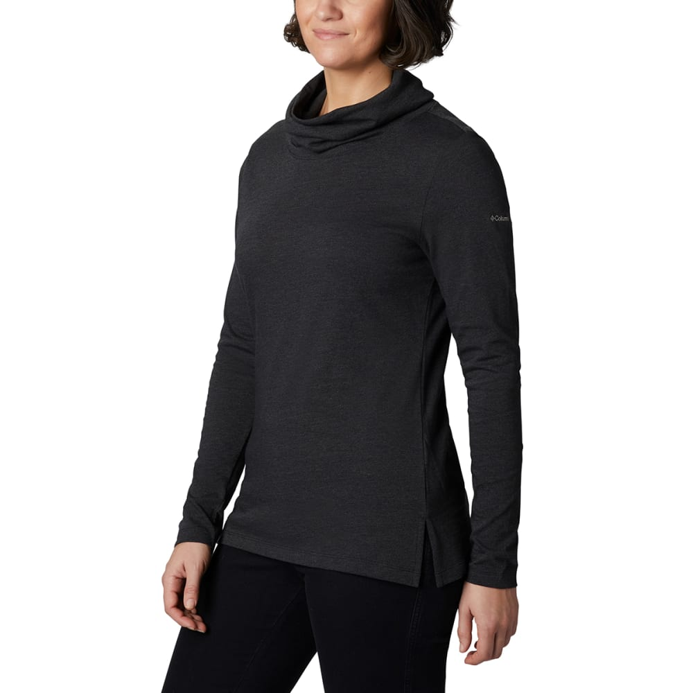 COLUMBIA Women's Canyon Point Cowl Neck Shirt - 010 BLACK