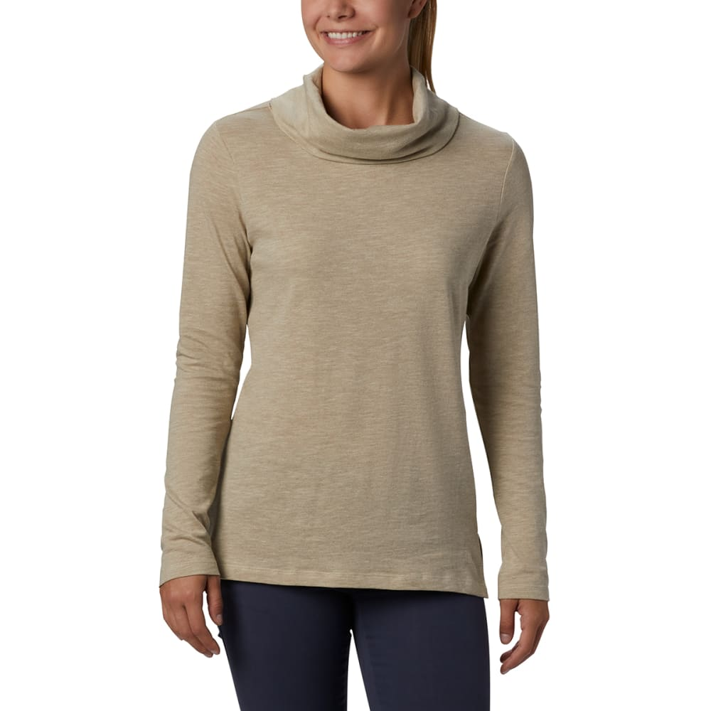 COLUMBIA Women's Canyon Point Cowl Neck Shirt L