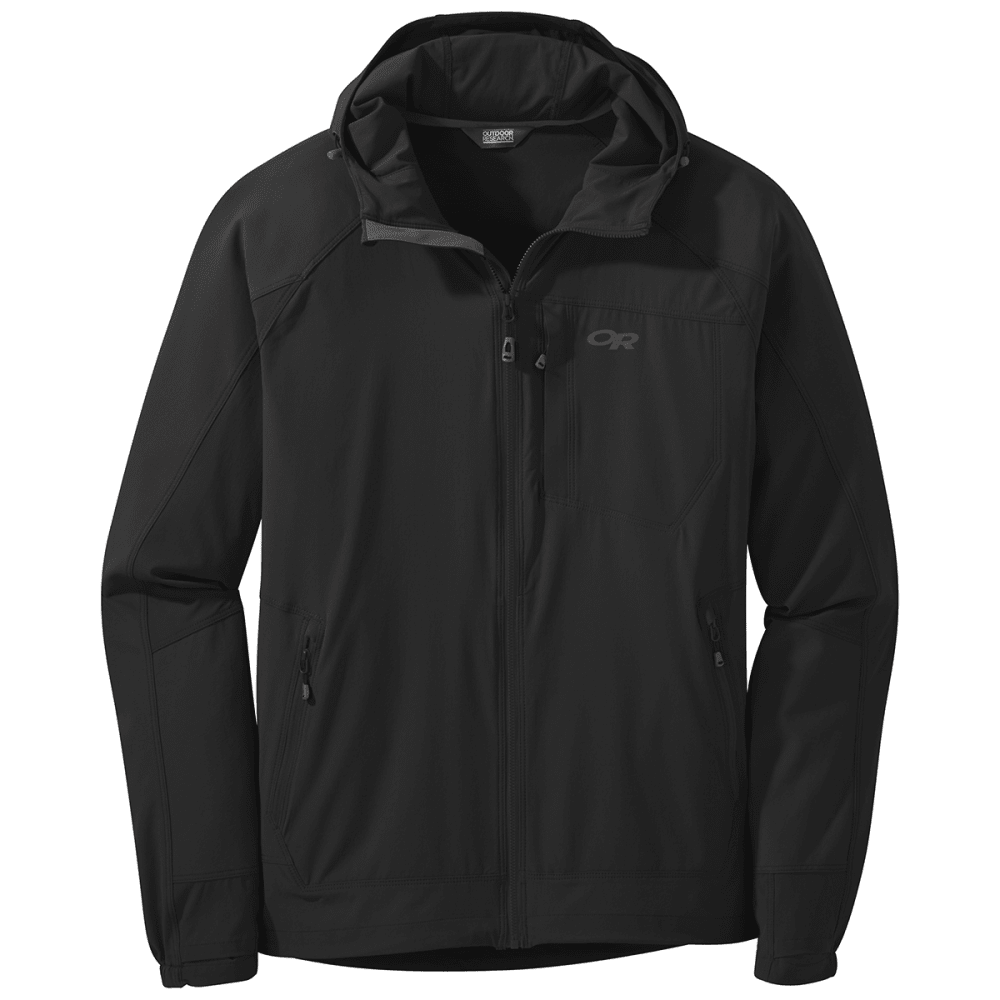 OUTDOOR RESEARCH Men's Ferrosi Hooded Jacket - 0001 BLACK