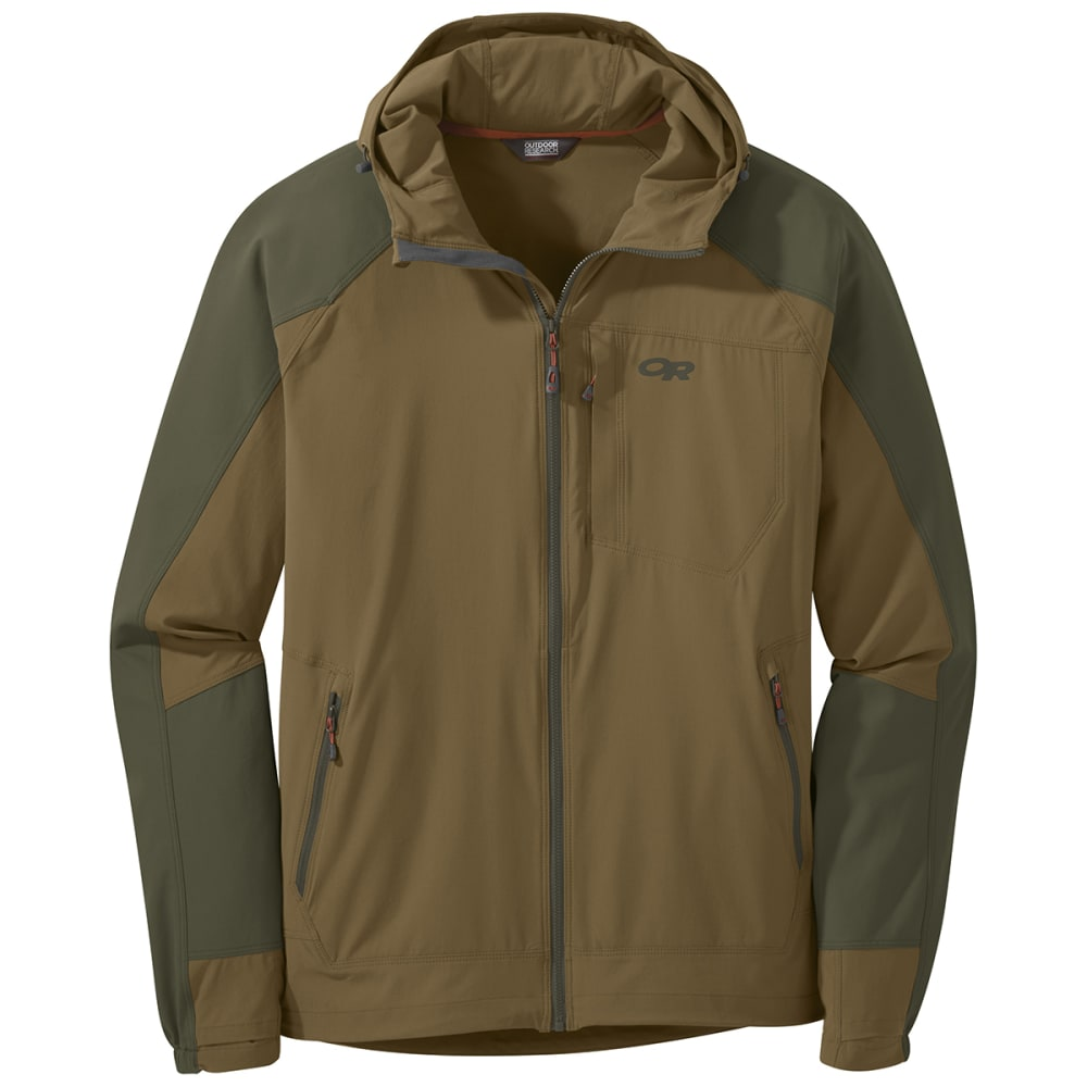 OUTDOOR RESEARCH Men's Ferrosi Hooded Jacket - 1206 COYOTE/FATIGUE