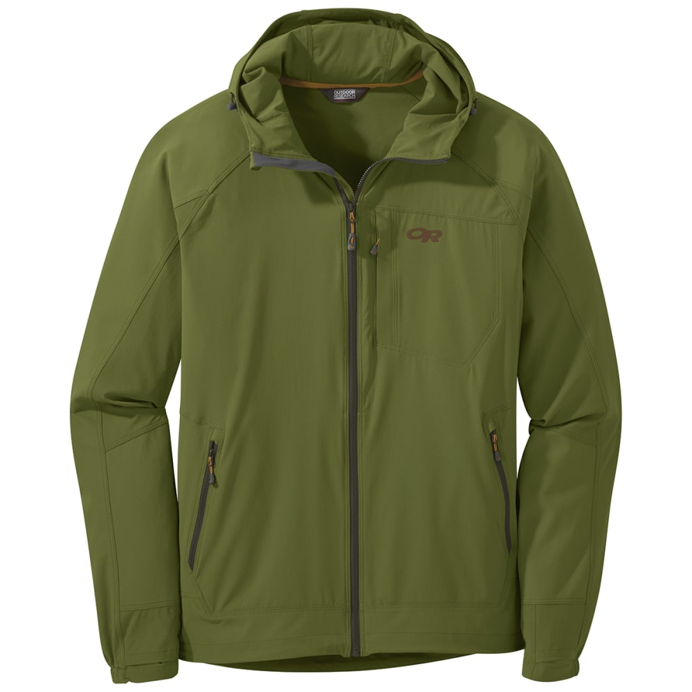 OUTDOOR RESEARCH Men's Ferrosi Hooded Jacket - 1431 SEAWEED