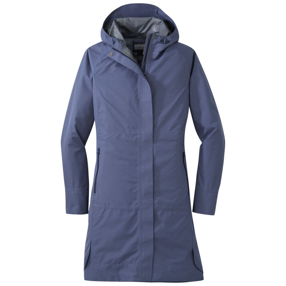 OUTDOOR RESEARCH Women's Panorama Point Trench Coat - 1421 STEEL BLUE
