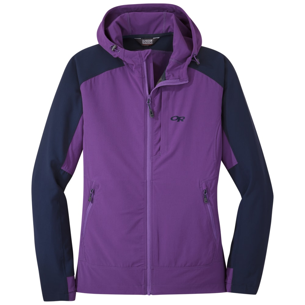 OUTDOOR RESEARCH Ferrosi Hooded Jacket - 1462 PURPLE HAZE NAV