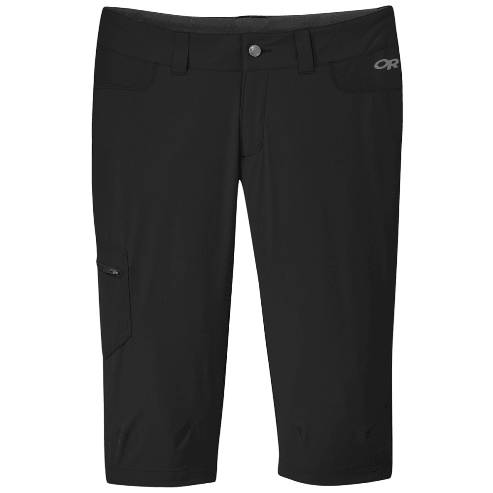 OUTDOOR RESEARCH Women's Ferrosi Capris - 0001 BLACK