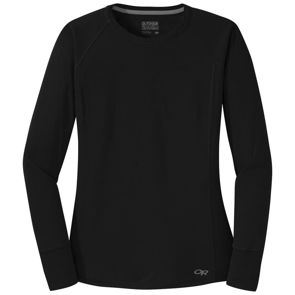 OUTDOOR RESEARCH Women's Echo Long-Sleeve Tee - 0001 BLACK