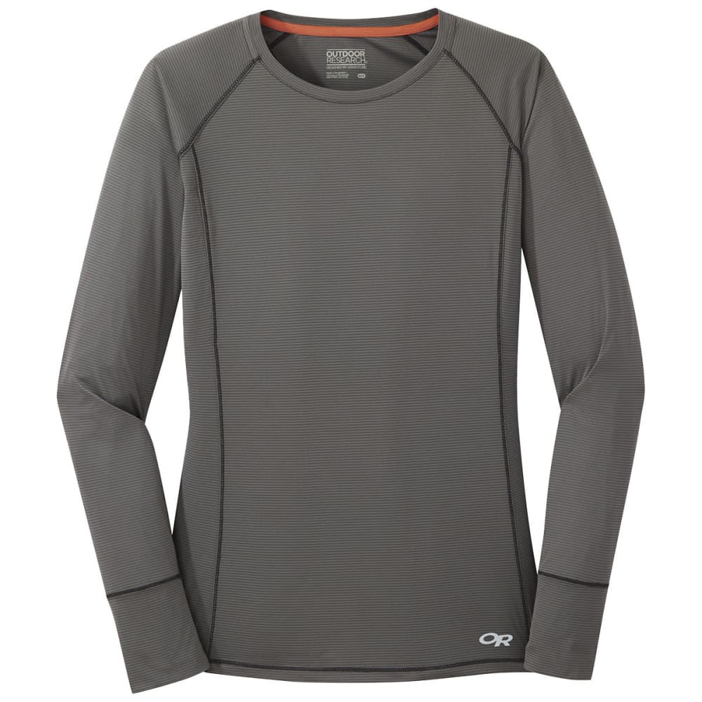 OUTDOOR RESEARCH Women's Echo Long-Sleeve Tee - 0008 PEWTER