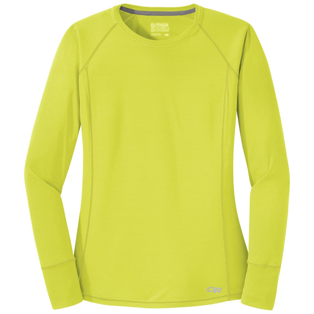 OUTDOOR RESEARCH Women's Echo Long-Sleeve Tee - 1430 CHARTREUSE