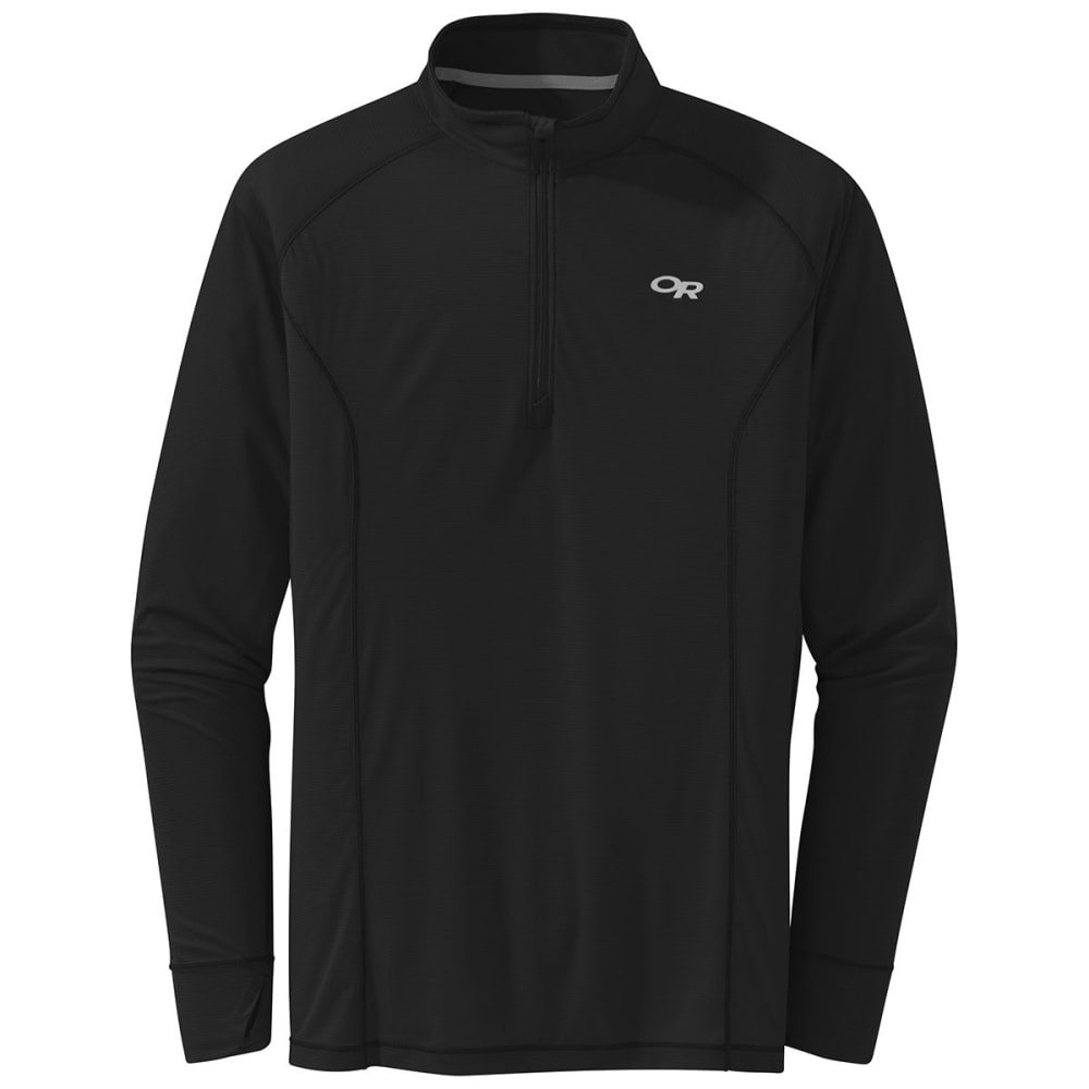 OUTDOOR RESEARCH Men's Echo 1/4-Zip Pullover - 0001 BLACK