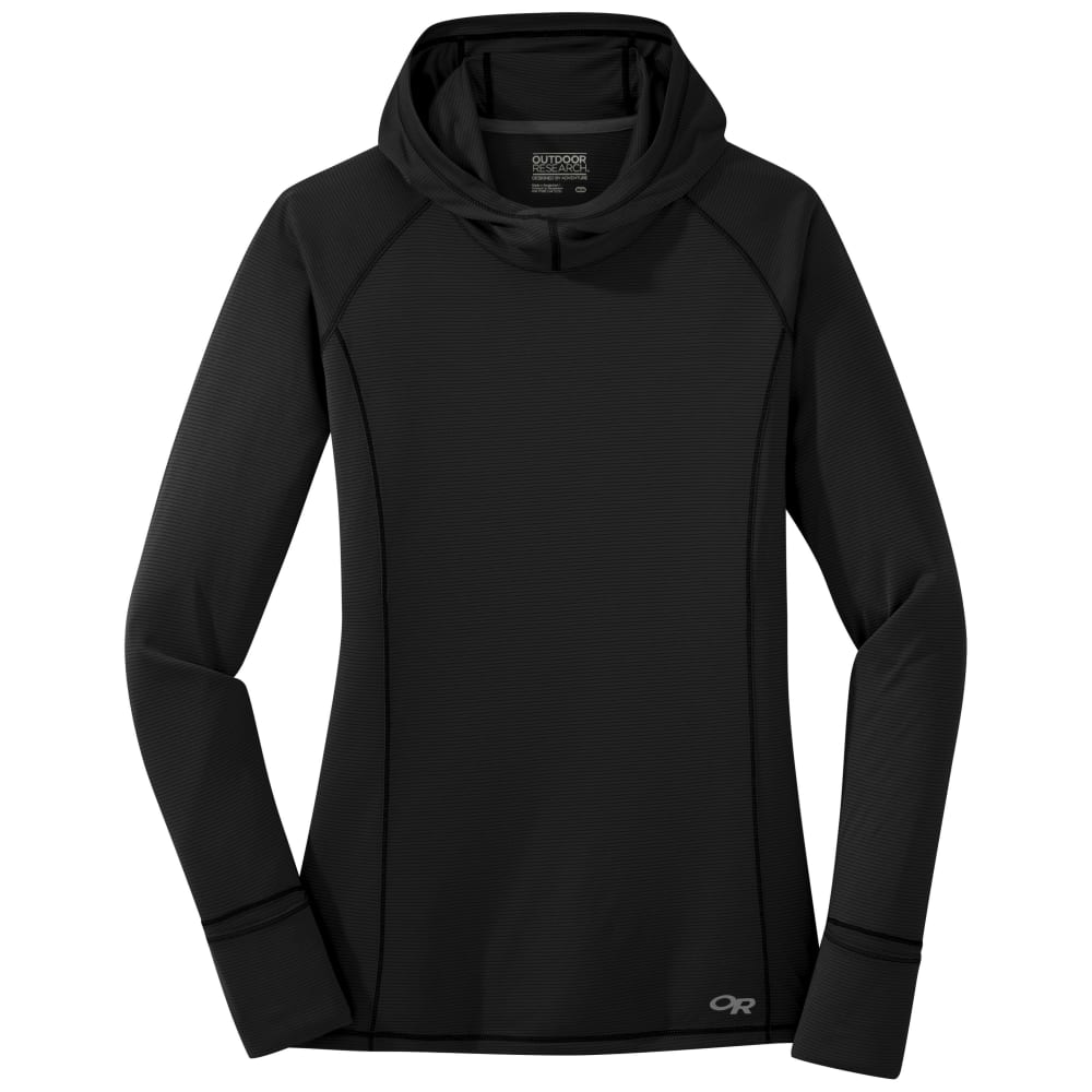 OUTDOOR RESEARCH Women's Long-Sleeve Echo Tee - 0001 BLACK