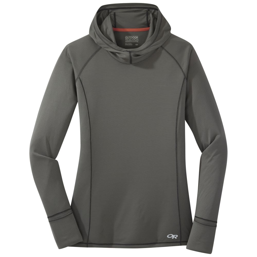 OUTDOOR RESEARCH Women's Long-Sleeve Echo Tee - 0008 PEWTER