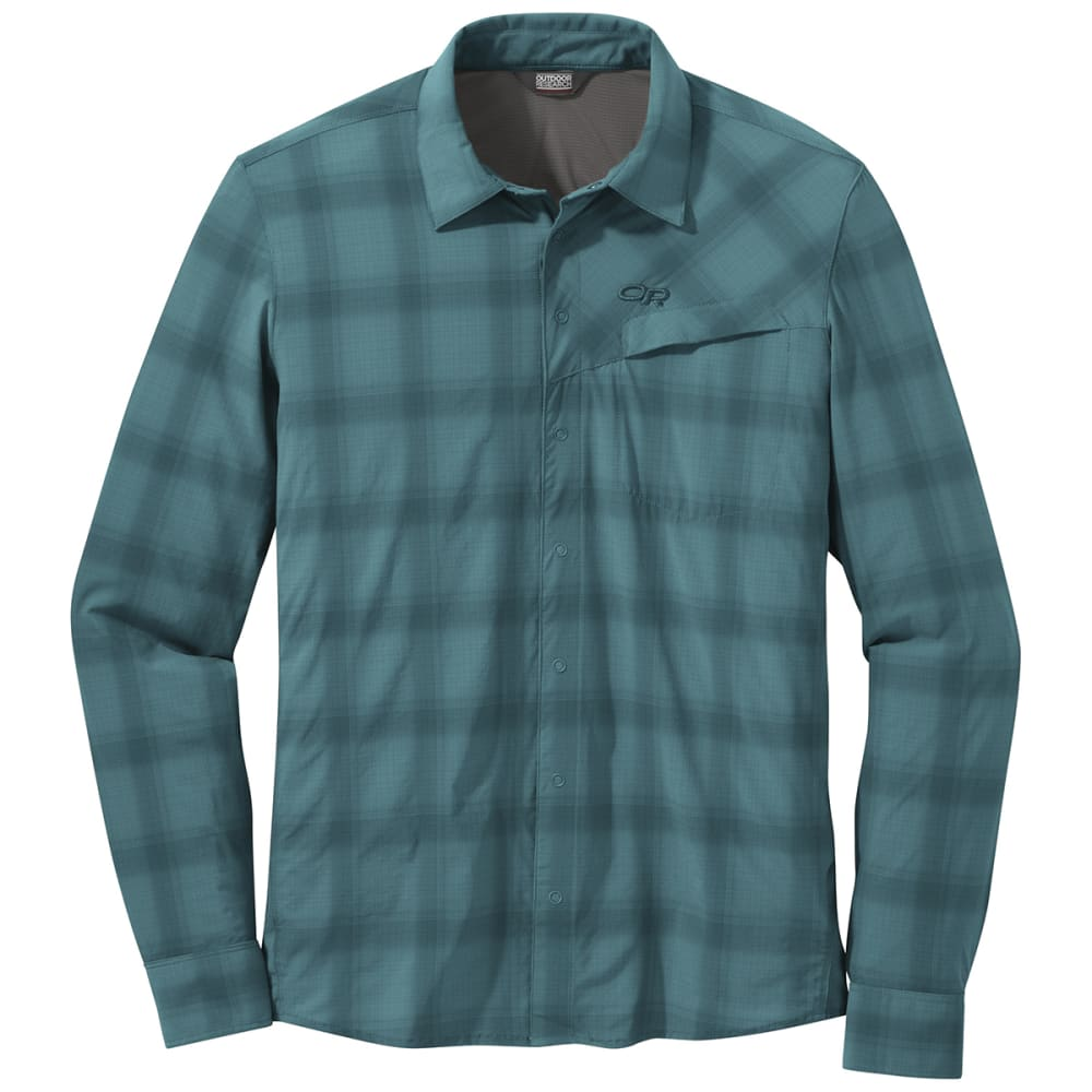 OUTDOOR RESEARCH Men's Astroman Long-Sleeve Sun Shirt - 1272 WASHED PEACOCK