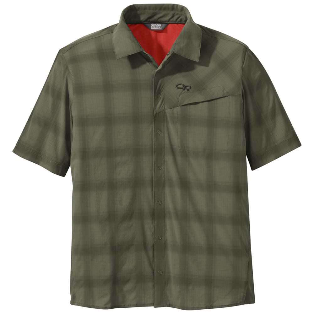 OUTDOOR RESEARCH Men's Astroman Short-Sleeve Sun Shirt - 0740 FATIGUE